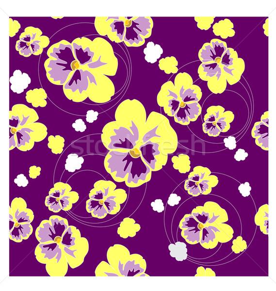 бесшовный орнамент цвета вектора цветок текстуры Сток-фото © Dimanchik