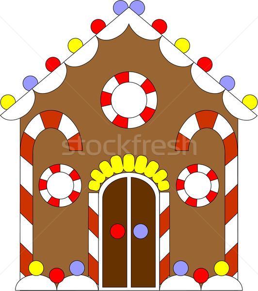 Piernik domu kolor wektora drzewo żywności Zdjęcia stock © Dimanchik