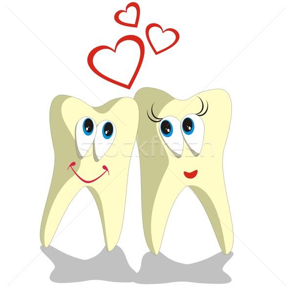 Tooth cartoon set 002 Stock photo © Dimanchik