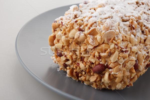 Arachide gâteau rouler manger sweet Photo stock © DimaP