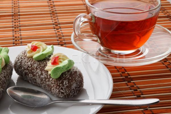 ром мяча торты чай торт белый Сток-фото © DimaP