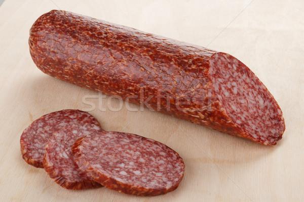 Salame seção cozinha grupo carne Foto stock © DimaP
