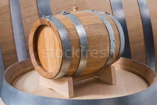Stock photo: wine barrels