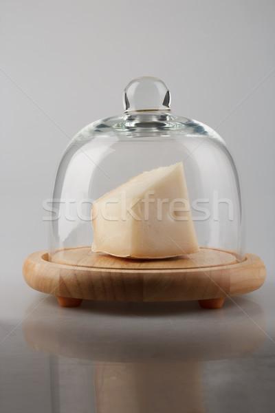 сыра купол кусок белый стекла продовольствие Сток-фото © DimaP