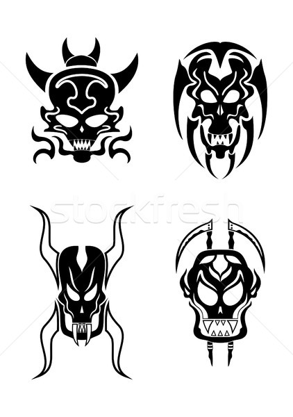 Skull tribal tattoo Stock photo © Dimpens