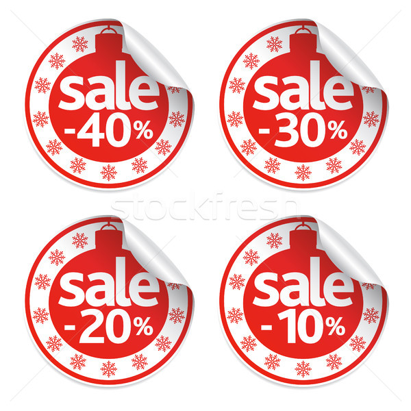 New Year sale stickers set Stock photo © Dimpens