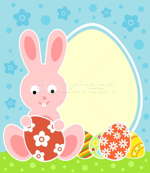 Húsvéti nyuszi húsvét kártya nyuszi tavasz absztrakt Stock fotó © Dimpens