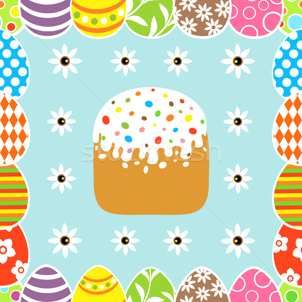 Photo stock: Pâques · gâteau · carte · printemps · nature