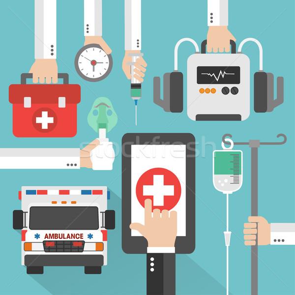 Ambulans tıbbi çevrimiçi dizayn teknoloji web Stok fotoğraf © Dimpens