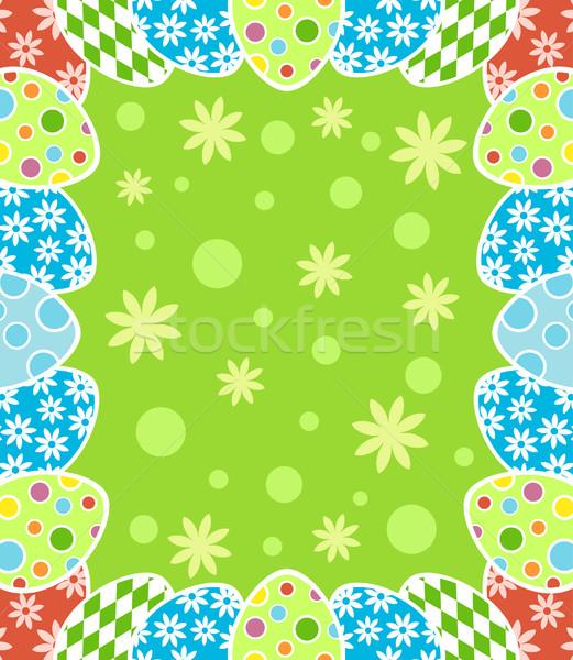 Húsvét kártya textúra tavasz absztrakt természet Stock fotó © Dimpens