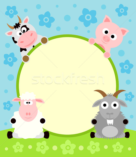 Stock photo: Animal cartoon background