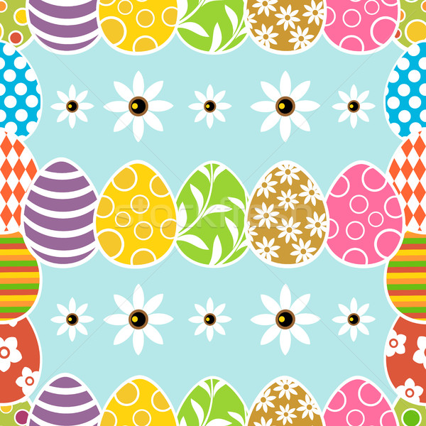 Seamless Easter background card Stock photo © Dimpens