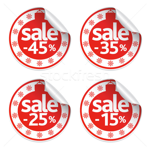 Set of New Year  stickers sale  Stock photo © Dimpens