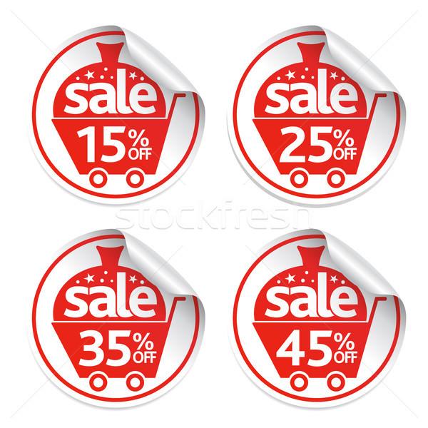 Photo stock: Vacances · nouvelle · année · autocollants · vente · vecteur