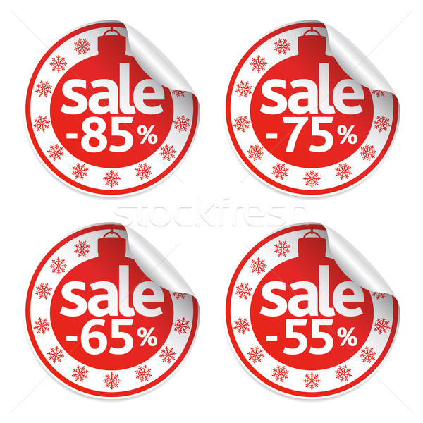 Set  New Year of stickers sale  Stock photo © Dimpens