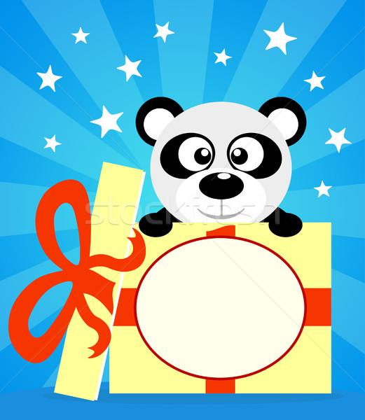 ünnep kártya panda vektor mosoly buli Stock fotó © Dimpens
