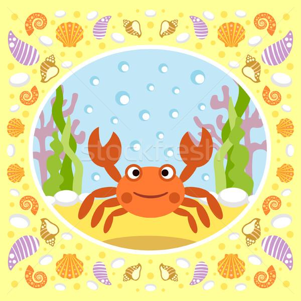 Photo stock: Mer · crabe · carte · eau · sourire · nature