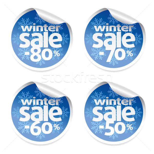 Set Winter  sale stickers  Stock photo © Dimpens