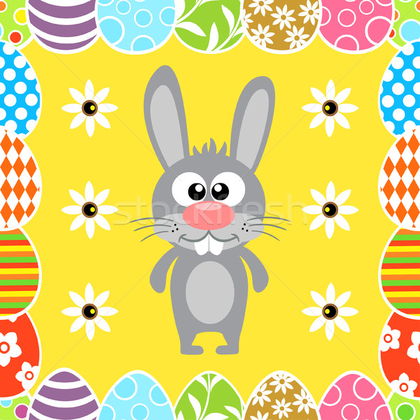 Seamless Easter background with rabbit Stock photo © Dimpens