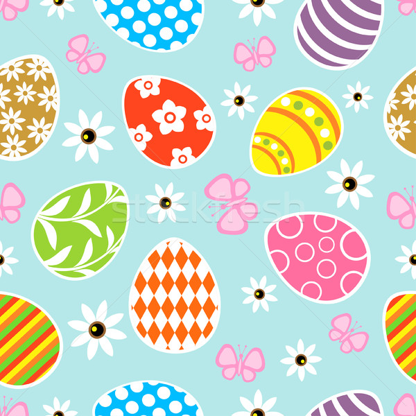 Seamless Easter  background blue Stock photo © Dimpens