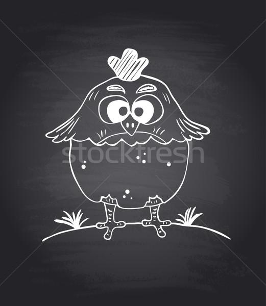 Tableau drôle poulet Pâques oeuf art Photo stock © Dimpens