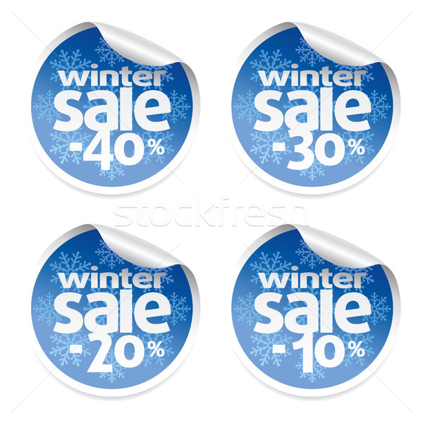 Winter sale stickers set Stock photo © Dimpens