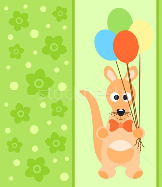 Stock photo:  Background card with kangaroo