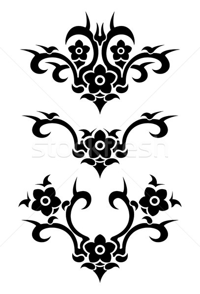 Flowers tribal tattoo Stock photo © Dimpens