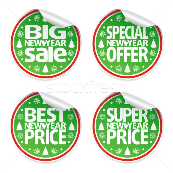Photo stock: Nouvelle · année · vente · autocollants · vecteur · affaires