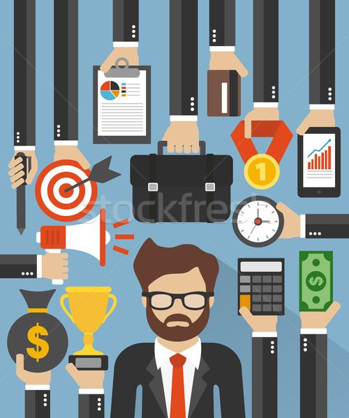 Affaires gestion design bureau web temps Photo stock © Dimpens