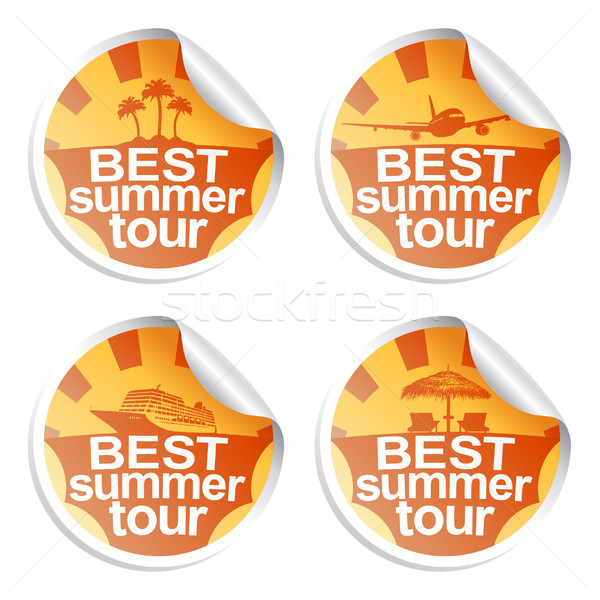 Summer stickers Stock photo © Dimpens
