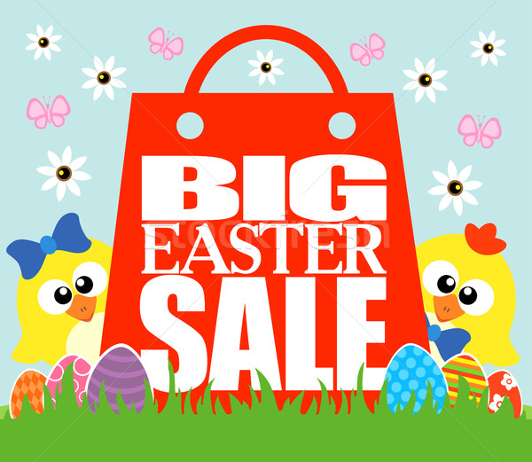 Big Easter Sale , funny chickens Stock photo © Dimpens