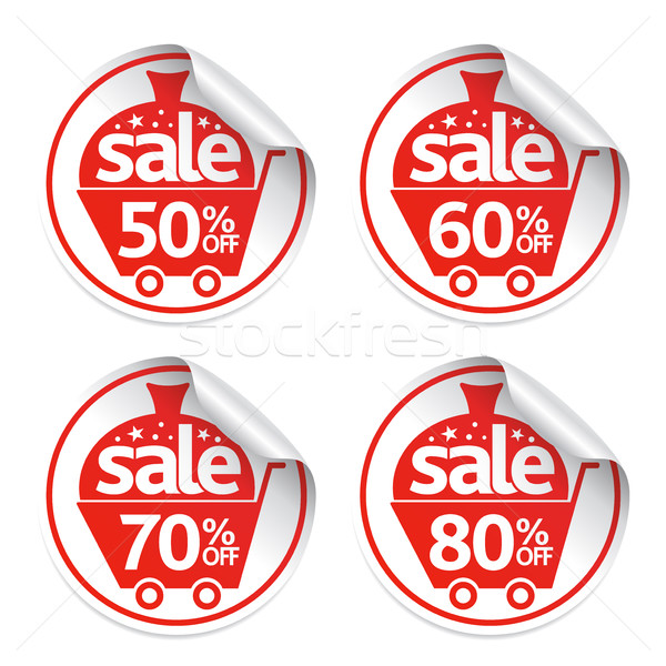 New Year stickers sale set vector Stock photo © Dimpens