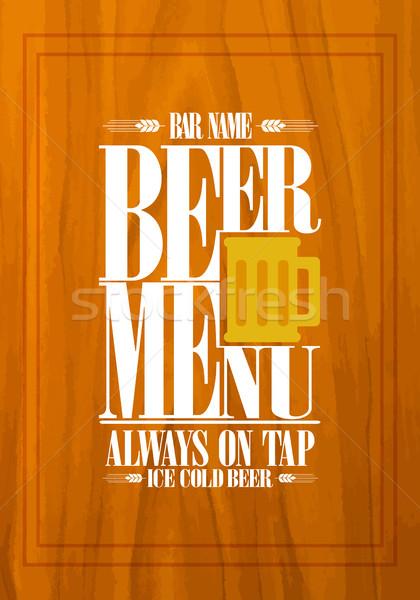 Beer design for bar menu Stock photo © Dimpens