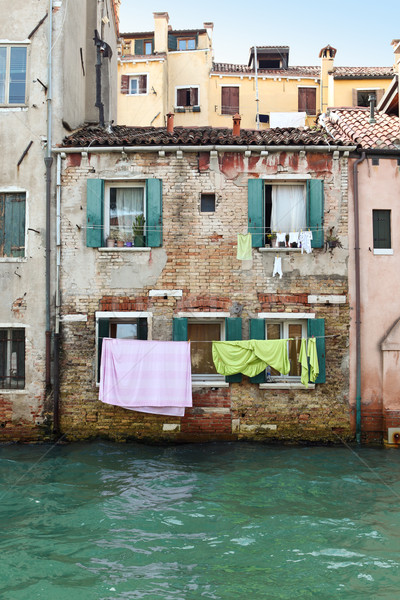 洗濯 カラフル ヴェネツィア イタリア 市 旅行 ストックフォト © Dinga