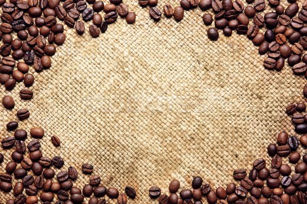 кадр кофе традиционный мешок текстильной фон Сток-фото © Dinga