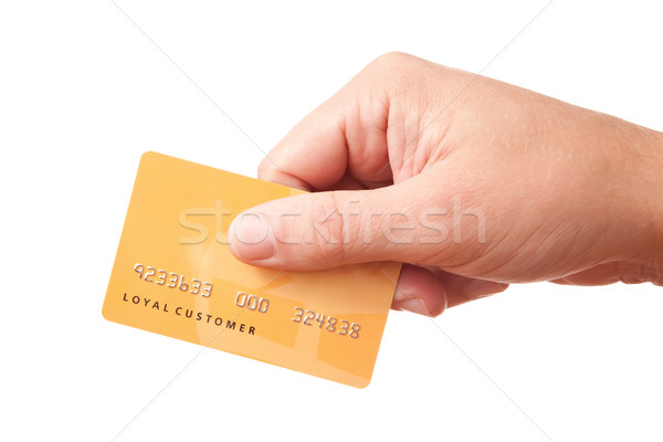 Hand holding unidentified plastic card Stock photo © Dinga