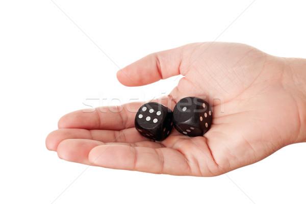 Main deux noir nombre Photo stock © Dinga