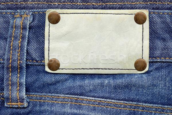 Cuir étiquette jeans détaillée Photo stock © Dinga