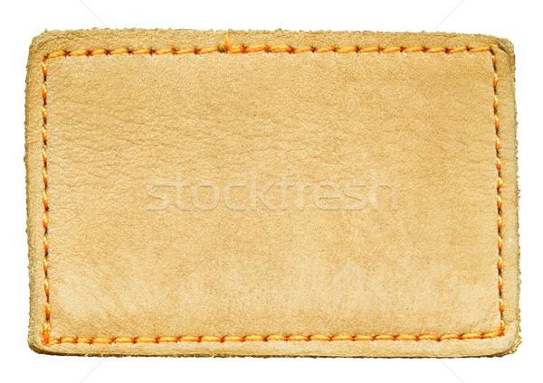 革 ラベル 孤立した ビッグ サイズ ストックフォト © Dinga