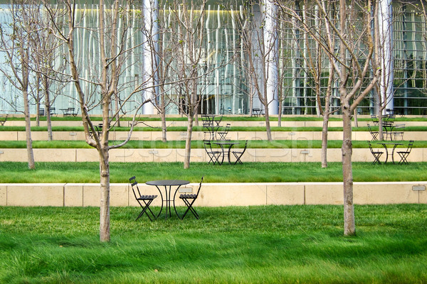 Modern green patio in business district Stock photo © Dinga