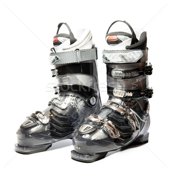 Modernes professionnels ski bottes blanche sport Photo stock © Dinga