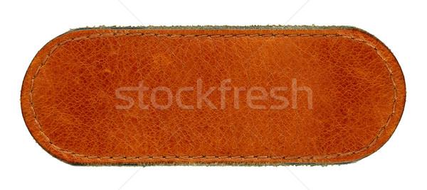 долго кожа Label большой размер Сток-фото © Dinga
