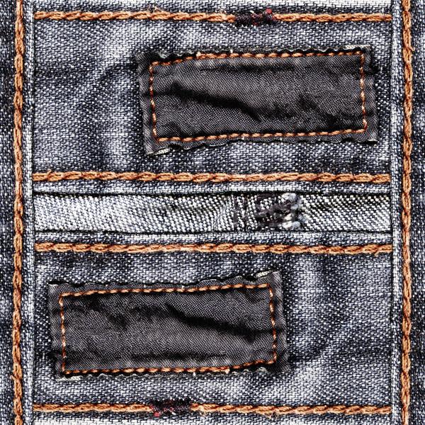 джинсов черный два темно хлопка Этикетки Сток-фото © Dinga