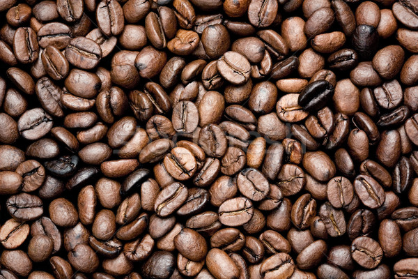 Café fraîches grains de café texture boire Photo stock © Dinga