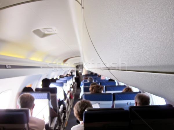 飛行機 インテリア ビジネス 女性 技術 背景 ストックフォト © Dinga