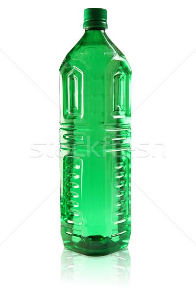 緑 プラスチック ボトル 孤立した ラベル フル ストックフォト © Dinga