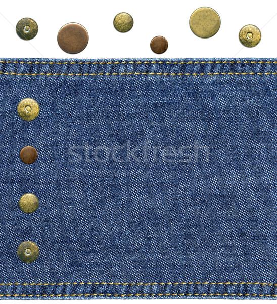 кусок синий джинсовой подробный Сток-фото © Dinga