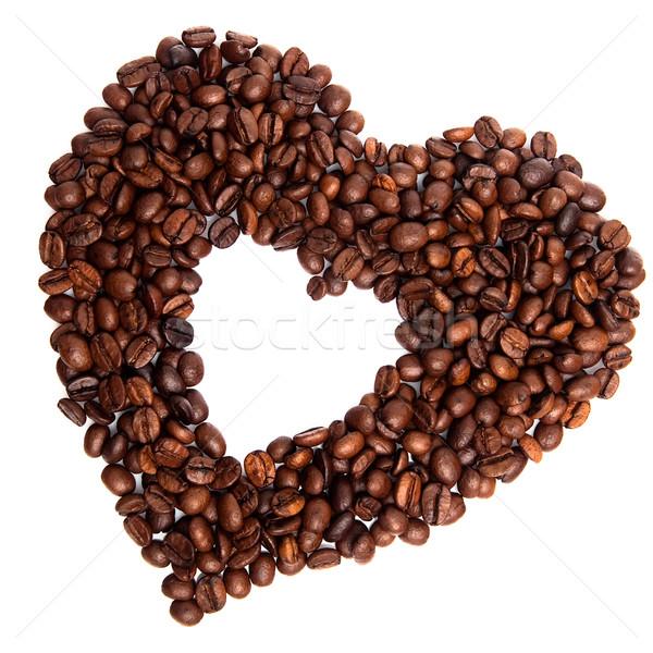 コーヒー 心臓の形態 中心 新鮮な コーヒー豆 ストックフォト © Dinga