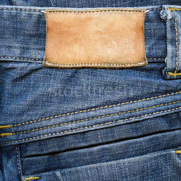 Grungy leather label on jeans   Stock photo © Dinga